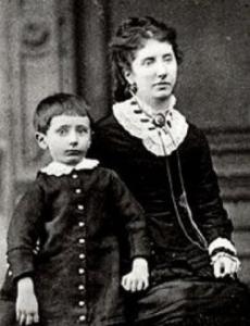 Guglielmo Marconi con la madre Annie Jameson Marconi 1880 circa