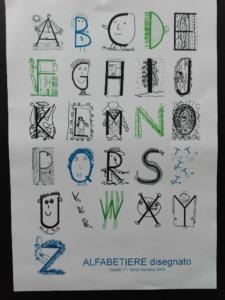 Lettere disegnate classe prima